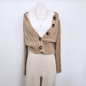 Chunky Knit Neutral Old Navy Cardigan